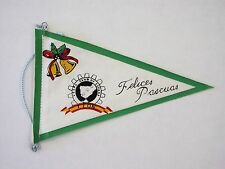 Original VESPA CLUB Leon 1960's holiday scooter rally pennant Espana cog badge