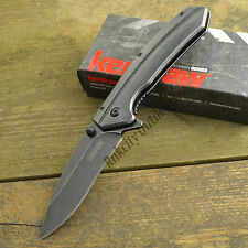 Kershaw Filter 3Cr13 Blackwash Plain Edge Stainless Handle Folding Knife 1306BW