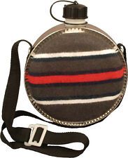 Blanket Covered Round Desert 2 Quart Canteen & Strap