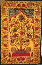 Indian Tree of Life Round Psychedelic Twin Multi Tapestry Thrw Wall Hanging SB87