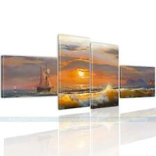 "Stretched FRAMED ""Sunset Sea Sailboat"" HD Canvas Prints Wall Art Picture Decor"