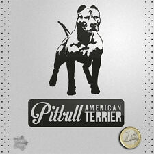 STICKER AMERICAN PITBULL TERRIER DOG PERRO PEGATINA DECAL AUTOCOLLANT AUFKLEBER