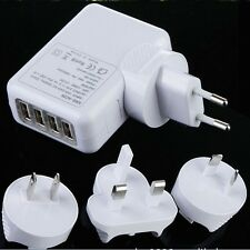 NEW 4 Port USB Travel Wall Charger AC Multi Adapter Pack With AU EU US UK Plug