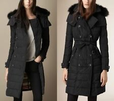 "*NWT* Burberry Brit ""Allerdale"" Down Puffer Coat XS Black Fur NEW Jacket $1395"