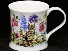 DUNOON FLOWER CATS Fine Bone China WESSEX Mug #3