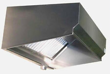 SUPERIOR HOODS 5FT STAINLESS STEEL RESTAURANT RANGE GREASE HOOD NSF NFPA96 - VSE