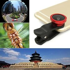 3in1 Clip On Fisheye Camera Lens + Wide Angle + Macro For Mobile Cell Phone
