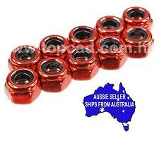 3mm steel NON flanged lock nuts may suit Tamiya HPI Axial 1:10 RC  - RED