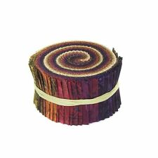 RJR Malam Batik Fire Red Rust Purple Assorted Pixie Strips Jelly Roll Fabric