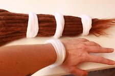 4  White Dreadlock hair ties. Thick, stretchy and comfortable