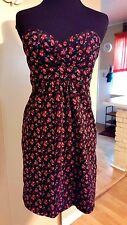 VOLCOM Womans Dress Rose Strapless Wiggle Retro HOLIDAY  COCKTAIL Dress Size 5