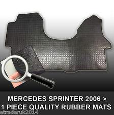 Mercedes Merc Sprinter Van Rubber Floor Mat Mats Black Front 2006  1 Piece Mat