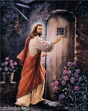 JESUS Knocking On Door / Christian - Christianity 8 x 10 GLOSSY Photo Picture
