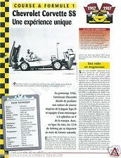 Chevrolet Corvette Super Sports V8 12h of Sebring USA 1956 Car Auto FICHE FRANCE