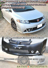 Mu-gen RR Style Front Bumper + Fog + Grill Fits 06-11 Civic 4dr