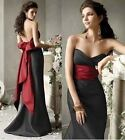 New black Long Evening Formal Party Ball Gown Prom cocktail Wedding Bridesmaid