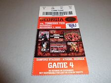 Tennessee Tech Eagles vs Georgia Bulldogs 11-7-2009 Football Game Ticket Stub