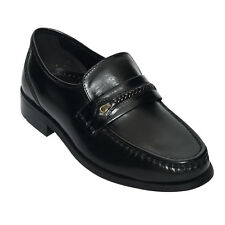 Lucini Real Leather Mens Slip On Casual Formal Office Wear Shoes