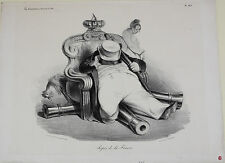 Honore Daumier (France 1808-1879) Lithograph Titled Repos de la france