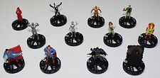 DC Heroclix Worlds Finest 12 Figure Lot No Duplicates Superman Batman Poison Ivy