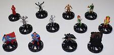 DC Heroclix Worlds Finest 12 Figure Lot No Duplicates Superman Batman Poison Ivy