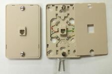 1/ NC-630A 4C IV Wall Phone Jack 4C Mounting Plate w/Screw Terminals   NEW