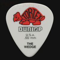 Dunlop Tortex Wedge Guitar Picks Plectrums 0.50mm Red - 6 10 12 20 24 or 36