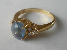 18K YELLOW GOLD PARAIBA TOURMALINE & DIAMOND RING 1.27CT COPPER BEARIN