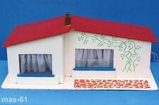 Casa de muñecas 2 habitaciones terraza vintage 1:12 bungalow 60er años