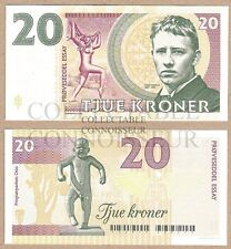 Norway 20 Kroner 2016 UNC SPECIMEN Private Issue Test Note Banknote - Vigeland
