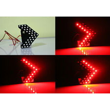 2x Red 33-SMD Sequential LED Arrows Panel for Car Side Mirror Turn Signal Light