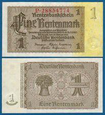 1 Rentenmark Reichsdruck  KASSENFRISCH  Ro. 166 b