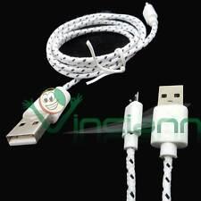 Cavo dati Tessuto Nylon BIANCO per NGM Forward Young USB carica e sincronizza