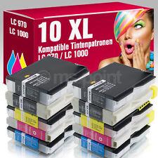 10er Set Patronen für Brother MFC260C DCP150C DCP357C MFC440CN LC970 LC1000