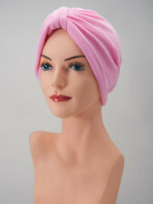 LIGHT PINK Terry COTTON LOUNGING TURBAN Cancer Chemo Cap Scarf FREE SHIPPING!!!
