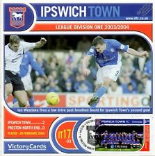 IPSWICH TOWN 2003-04 Preston PNE (Ian Westlake) Football Stamp Victory Card #317