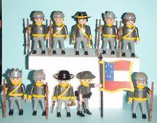 PLAYMOBIL CUSTOM OESTE SOLDADOS CONFEDERADOS CONFEDERATE SOLDIERS WESTERN LOT