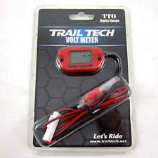 Trail Tech TTO Volt Meter Digital Gauge Red Voltage Front Button 744-V00-BL NEW