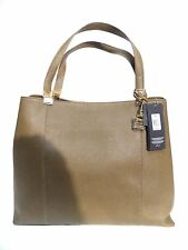 Tommy Hilfiger Pepp Th Hinge Satchel Tote Womens Brown Purse Saffiano Leather