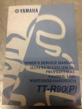 Yamaha TT-R90 TTR 90 (P) Genuine Owners Service Manual