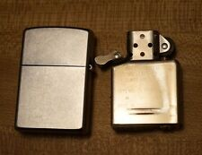 Brushed Stainless Steel Zippo Lighter - Unfired - 03 - Made in USA Bradford, PA