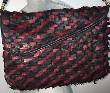 East West Designs Narda Collection Leather Fringe Hippy Shoulder Bag Cross Body