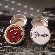 UK Post 2 X FENDER Tins For Storing Guitar Plectrums Picks RED & WHITE Cool Gift
