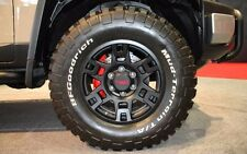 "Genuine OEM TRD 17""x7"" 6x139.7  Black Off Road Style PTR2035110BK - QTY.1"