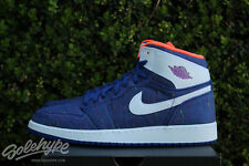 NIKE AIR JORDAN 1 RETRO HIGH I GS SZ 9 Y DEEP ROYAL WHITE PURPLE 332148 411