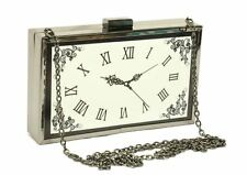 Designer Women Evening Bag Clock Hard Case Runway Bag Purse Celebrity Love#34816