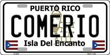 COMERIO Puerto Rico Novelty State Background Metal License Plate