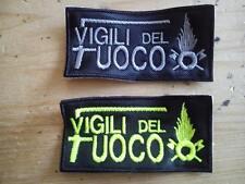 Toppa VIGILI DEL FUOCO PATCH VDF ricamata ricamo termoadesiva o velcro bandiera