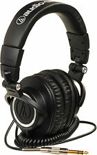 Audio Technica ATHM50 Coiled Cable Studio Monitoring Headphones