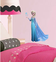 Frozen Elsa W Flakes Girls Bedroom Colour Vinyl Decal Wall Window Sticker Gift